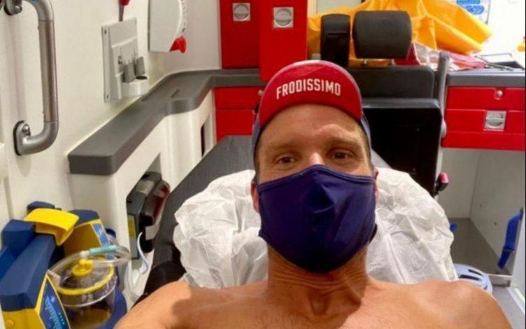 Jan Frodenos Selfie im Krankenhaus