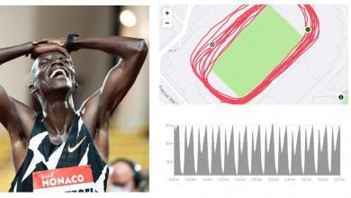 Photo of Joshua Cheptegei's 5.000-meter World Record Strava data