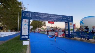 Photo of Alberto González Champion of Spain of Elite Triathlon 2020.