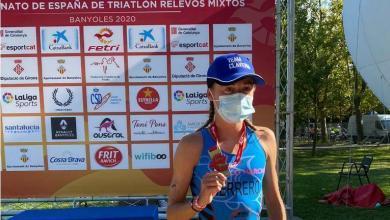 Paula Herrero campeona de españa de triatlón élite 2020