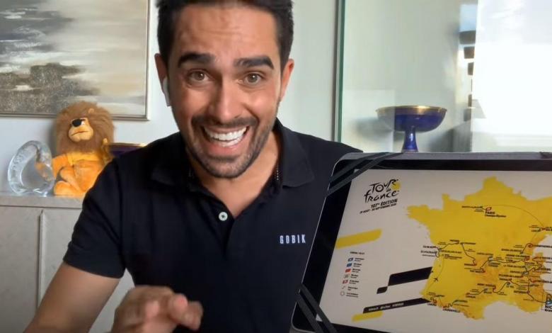Alberto Contador on his YouTube channel