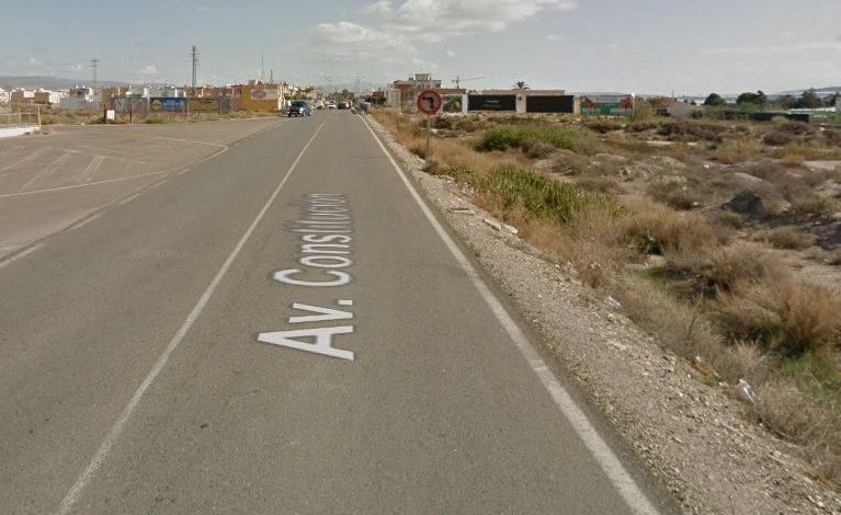 AL-3111 road in the Almeria municipality of Níjar,