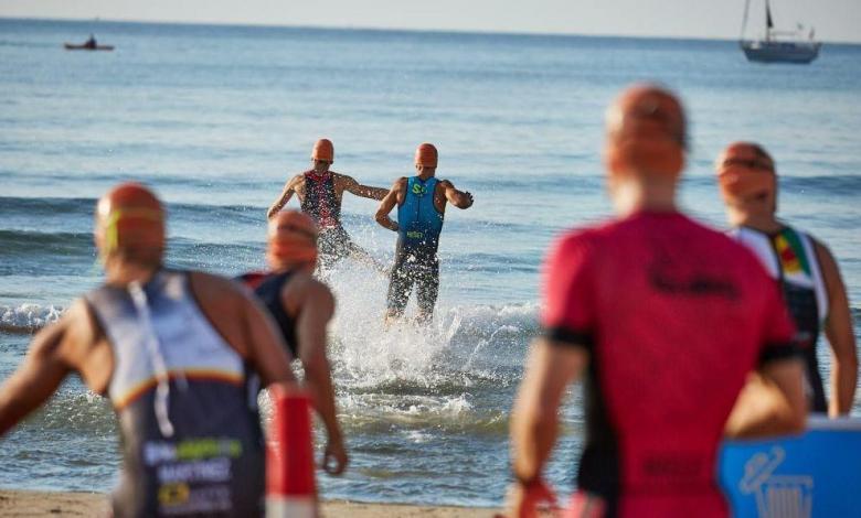 Triathlon swimming start