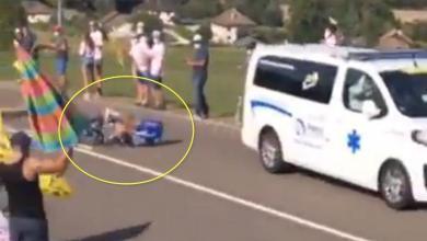 Foto von (Video) Bob Jungels, der bei der Tour de France von einem Krankenwagen angefahren wurde