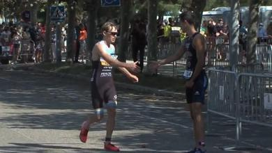 Photo du grand geste sportif de Diego Métrida au Santander City Triathlon