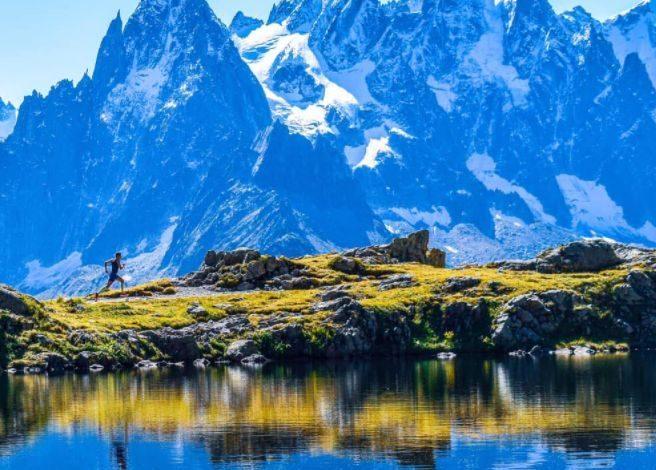 Erik entrenando en los Alpes