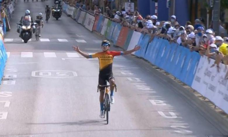 At the moment, Santiago Buitrago passed the finish line in the Tour de Luxembourg