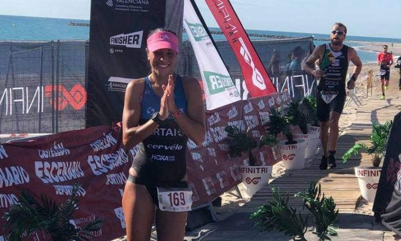 Saleta Castro ganando el Infinitri Almanssora