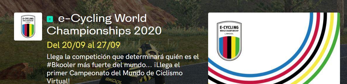 etapas e-Cycling World Championship by Bkool