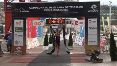 Foto von Laura Gómez, spanische Mittelstreckenmeisterin in Bilbao