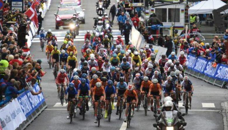 peloton in cycling world championship