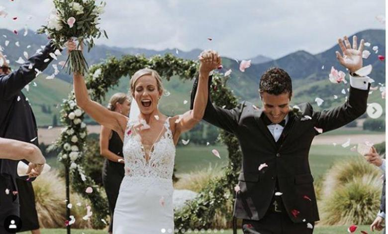 Anneke Jenkins and Javier Gómez Noya on their wedding day