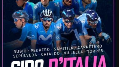 Photo of The Movistar team that will go to the Giro