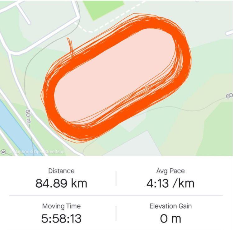 Kilian Jornet runs 84 kilometers on a track