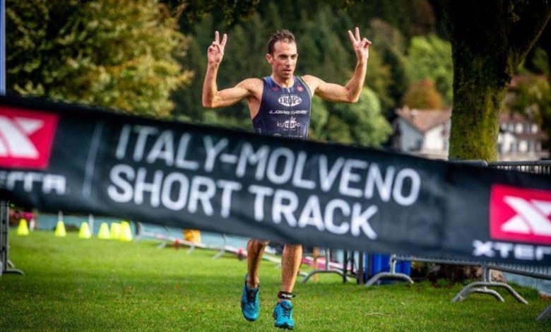 Rubén Ruzafa winning the Xterra Short Track Molveno