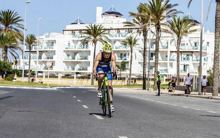 Cycling segment in Roquetas de Mar