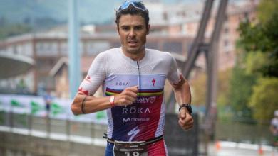 Photo of Javier Gómez Noya second in the Barcelona European Cup