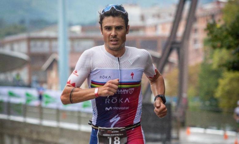 Javier Gómez Noya corriendo en Bilbao