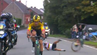 Photo of (Video) The fall of Julian Alaphillippe when colliding with a motorcycle in the Tour of Flanders