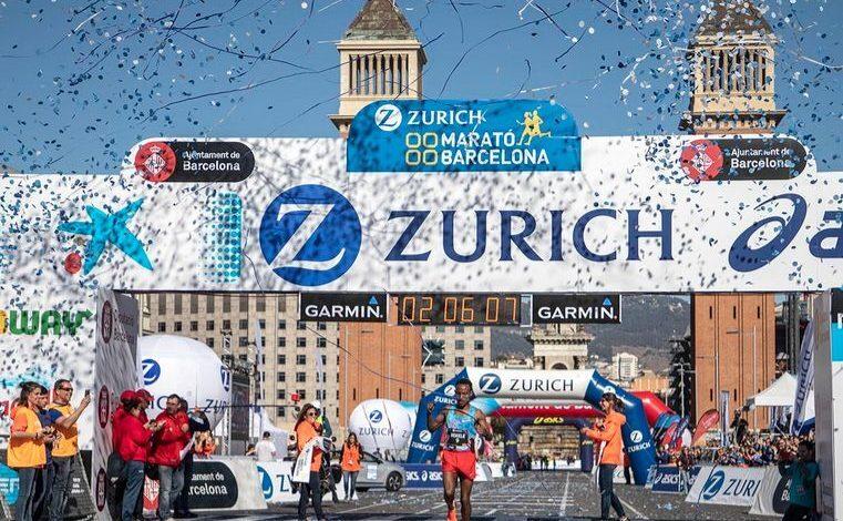 Llegada del maratón de Barcelona