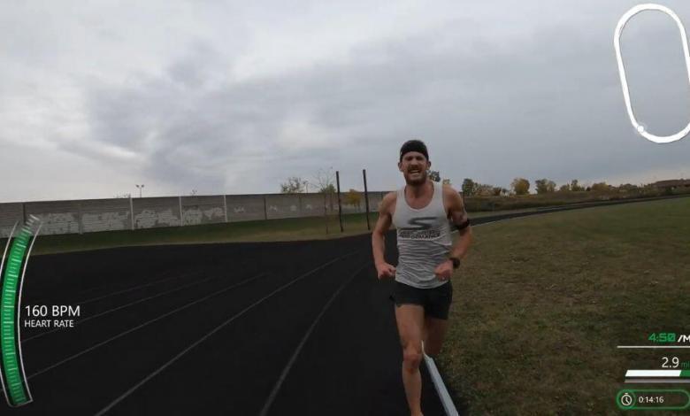 Lionel Sanders batiendo su récord personal en 5.000 metros