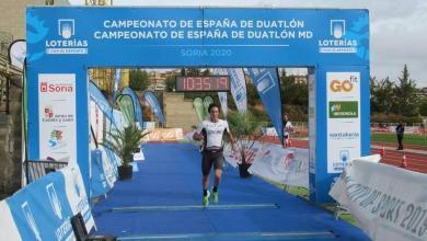 Foto von Pello Osoro und Sara Loehr Champions von Spanien von Duathlon MD