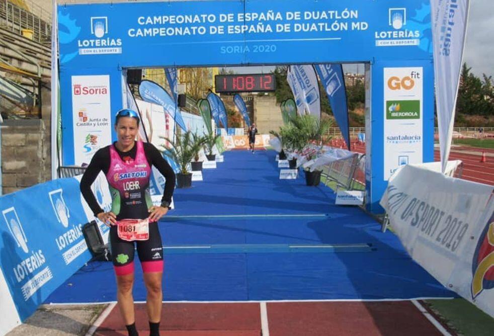Sara Loehr campeona de España Duatlón MD 2020