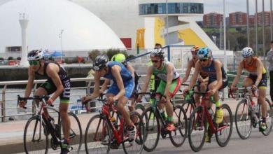 Segmento ciclista de un duatlón