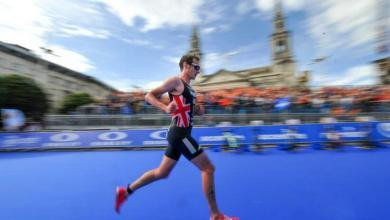 Alistair Brownlee compitiendo