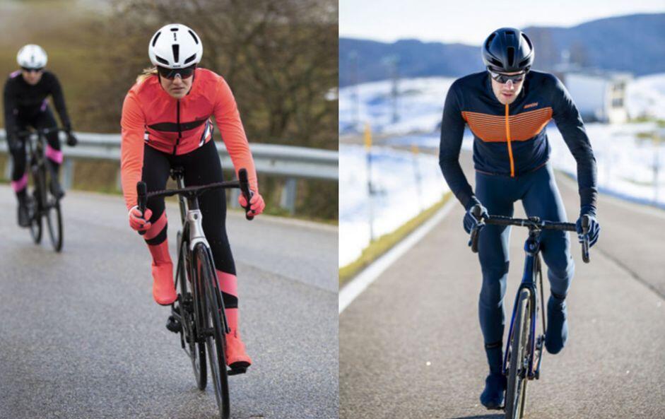 Diversos modelos de ciclismo Santini para el frio