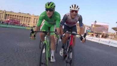 Sprint en la última etapa del Tour de Francia