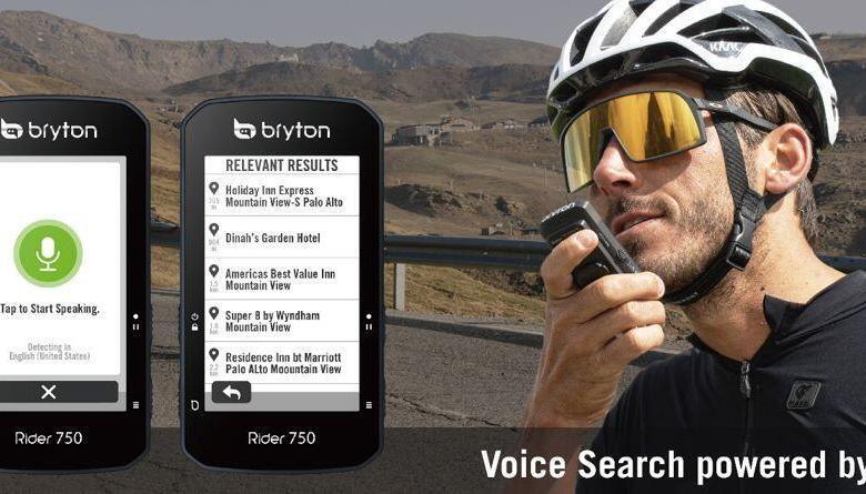 Bryton Rider 750, el primero GPS de Btyton con búsqueda por vo