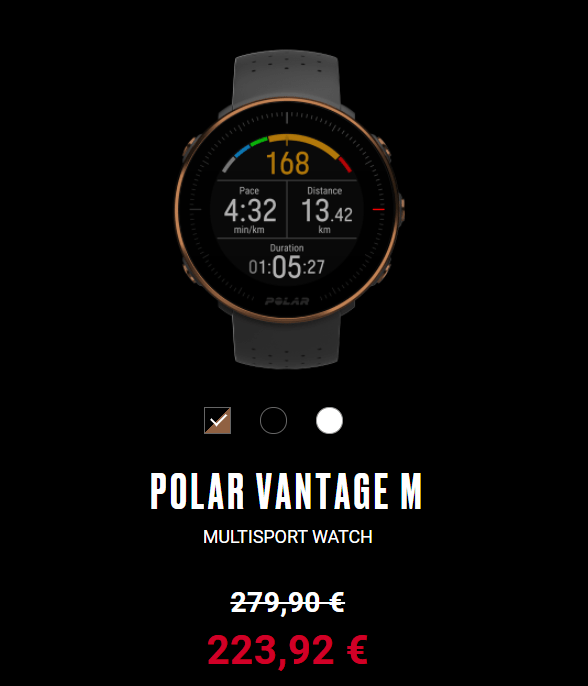 POLAR VANTAGE M - 25% DTO