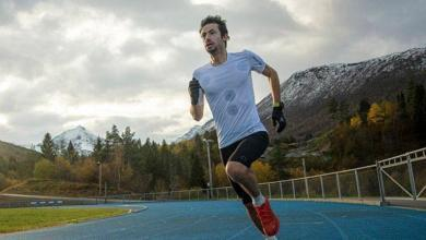 Kilian Jornet entrenando en pista para su reto