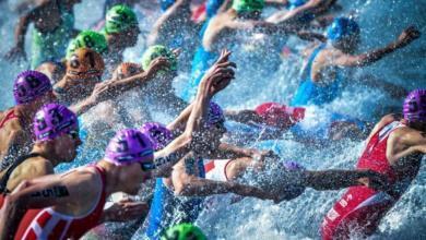 Salida de natación de la Copa del Mundo de Arzachena