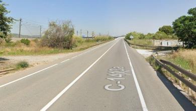 carretera C-1413 donde ha sucedido el accidente