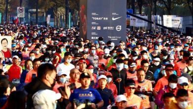 Salida del maratón de Shanghái