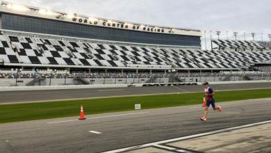 Gustav Iden en la carrera a pie del Challenge Daytona