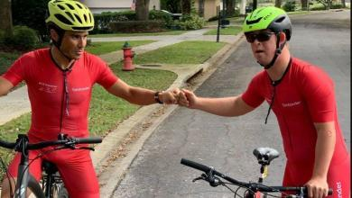 Instagram Gómez Noya y Chris Nikic sobre la bici