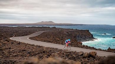 Cycling segment of the IRONMAN Lanzarote