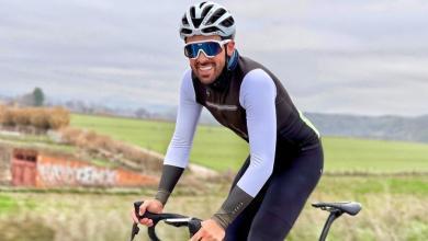 Alberto Contador entrenando