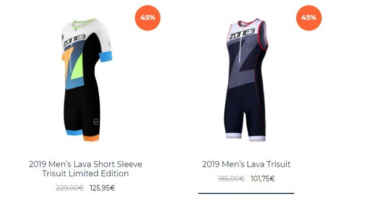 Ofertas monos Triatlon Zone3