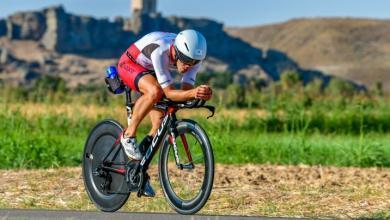 Segmento ciclista en una prueba del Korona Triatlón