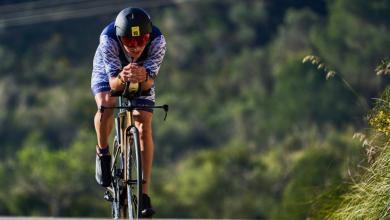 ciclista Rodando en Mallorca