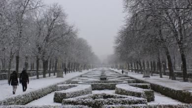 Parque del retiro nevado