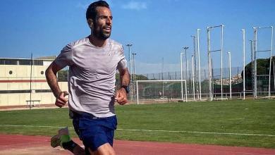 Emilio Martín entrenando en pista