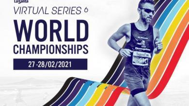 Cartel Club La Santa Virtual Series con el Campeonato Mundial de Running Virtual.