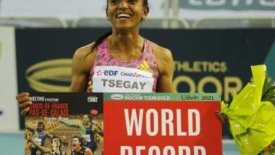 Gudaf Tsegay récord mundial de 1,500 metros Indoor