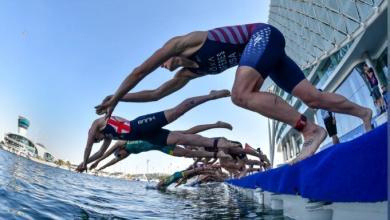 Salida de natación de las WTS Abu Dhabi