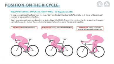posturas prohibidas por la UCI